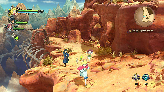 A gorgeous Ghibli-like terrain in Ni No Kuni II