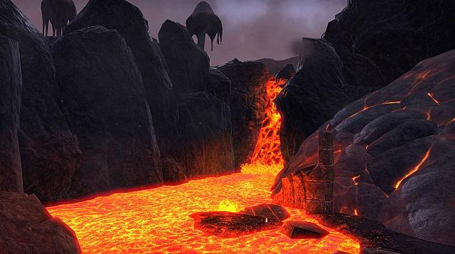eso morrowind lava