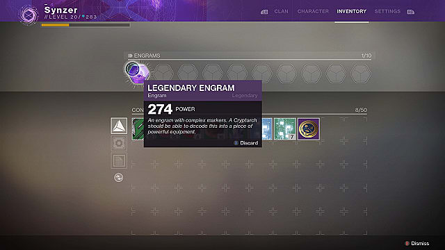 destiny 2 legendary engrams