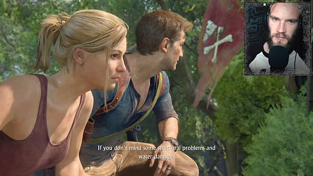 Uncharted 4, Elena, Elena Fisher, Nate, Nathan Drake, pewdiepie