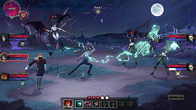 Lilith, Baron Samedi, and The Headless Horseman fighting two privateers.