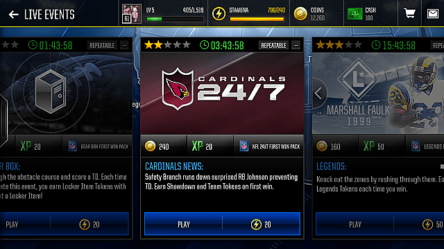 Madden 18 Mobile Live Events