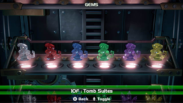 Luigi S Mansion 3 Gems Guide Pt 2 All Gems Floors 9f To 15f
