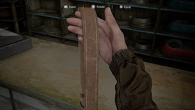 The long gun holster in Barko's Pet Store TLoU2.