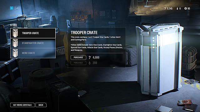 Loot crates in Star Wars Battlefront 2