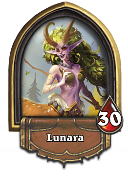 Lunara, a new card in Hearthstone The Witchwood