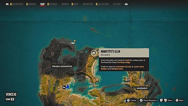 Mamutito's map location.