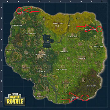 The new locations to find in Fortnite: llama, fox, and crab