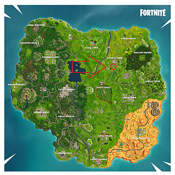 Map showing the battle star for season 5, week 1