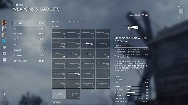Battlefield 1 Guide: Turning Tides Weapon Stats List and Unlock