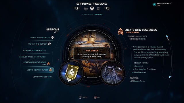 Mass Effect: Andromeda, strike teams