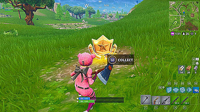 Fortnite Battle Star Guide: Search Between a Bear, Crater, and a