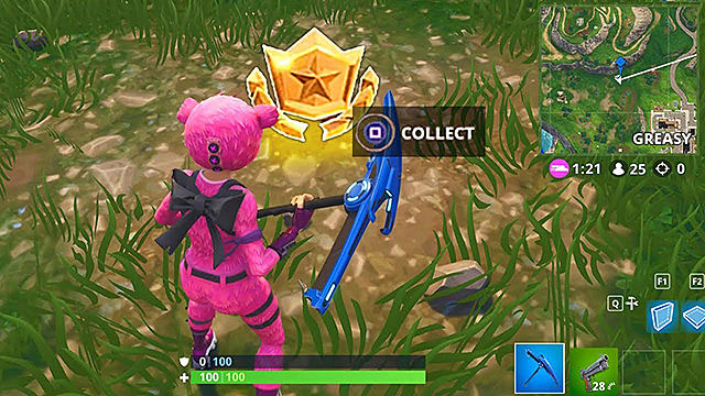 fortnite blockbuster guide search between a playground campsite and a footprint fortnite - fortnite search between playground