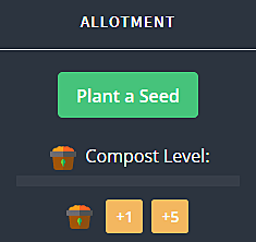 Adding compost to a seed when planting it in Melvor Idle.