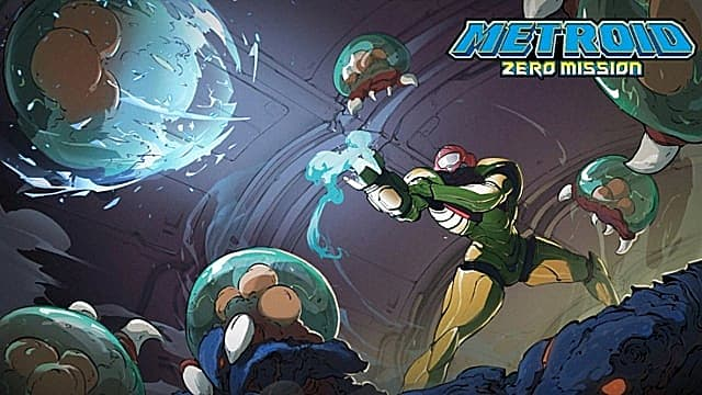 Metroid Dread's Zero Mission art is one of the ending rewards.