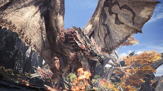 Hunting dragons (wyvern) in Monster Hunter World