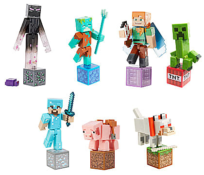 Minecraft Comic Action Figures from Mattel.