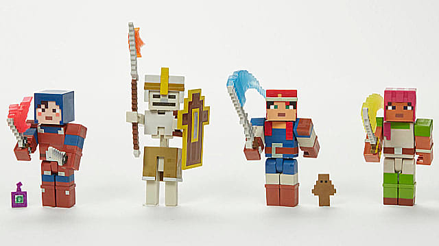 Minecraft Dungeons Explorer Figures from the Mattel and Mohjang partnership.