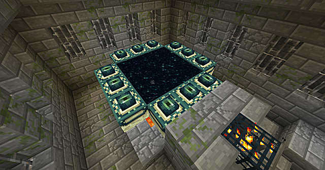 An End Portal in Minecraft.