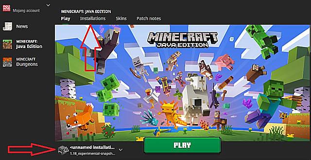 The Minecraft Java Edition launcher.