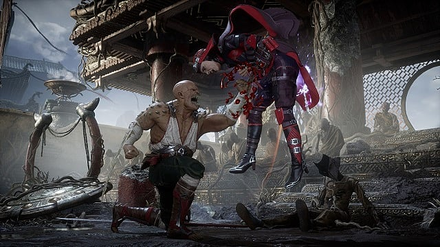 Baraka performs a fatality in Mortal Kombat 11