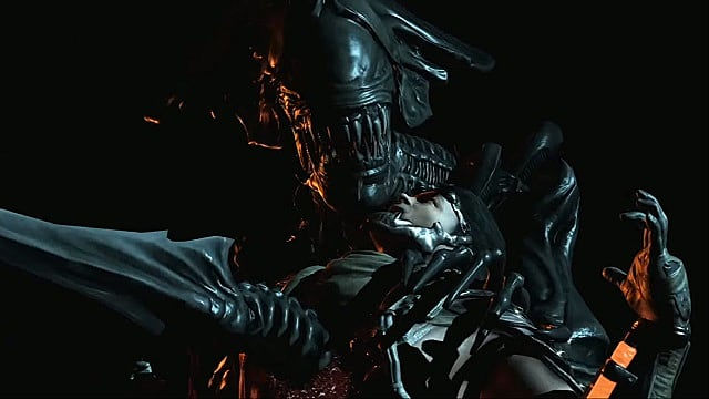Alien performing a fatality in Mortal Kombat X/XL