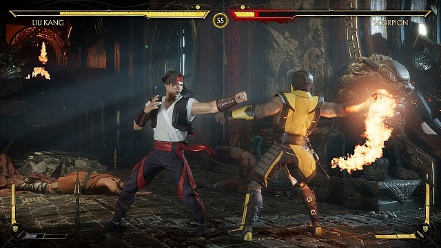 Liu Kang fights Scorpion in Mortal Kombat 11