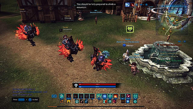 TERA Founder's Pack mounts hanging out