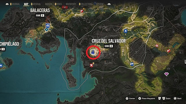 Map of La Muerta Negra's location in Segunda, Valle de Oro.
