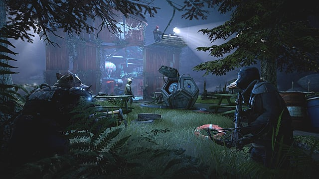 mutants creeping through a dark forest in Mutant Year Zero: Road to Eden