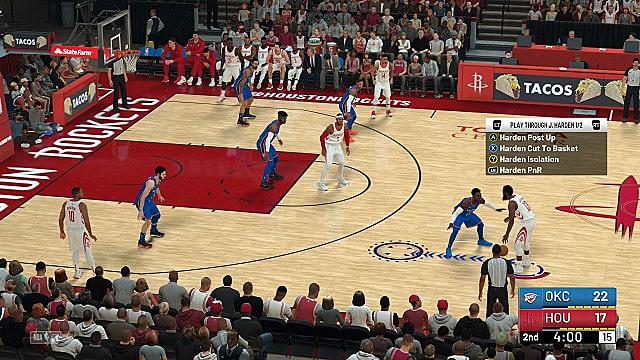Houston Rockets vs Oklahoma City Thunder from mid court