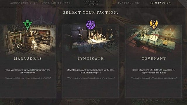 How to change your faction in New World.