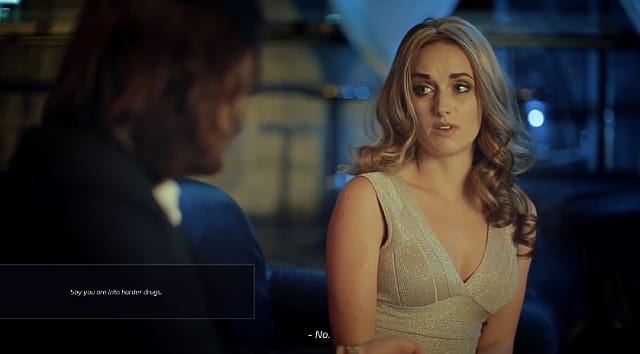 An unimpressed female in Super Seducer