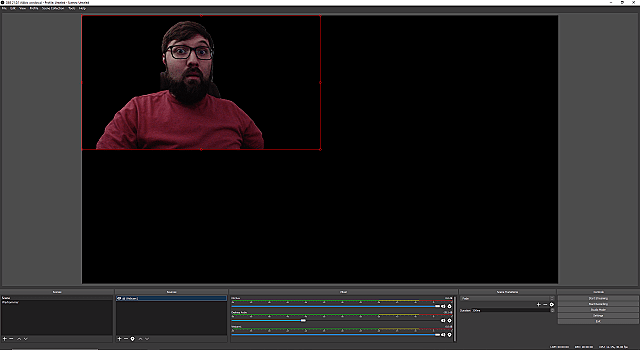 OBS Chroma Cam capture dark room