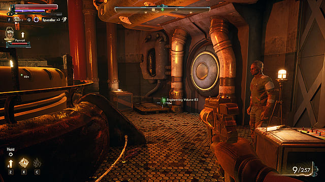 Mechanical Engineering book location in the Geothermal Plant; The Outer Worlds Frightened Engineer quest