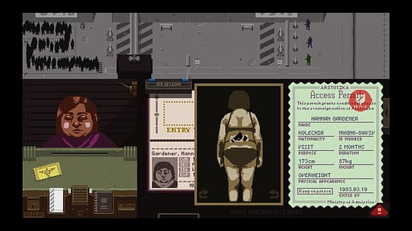 Papers Please, Gameplay