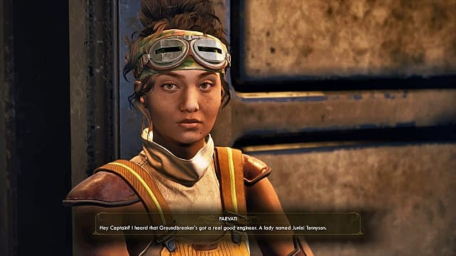 the Outer Worlds companion, Parvati