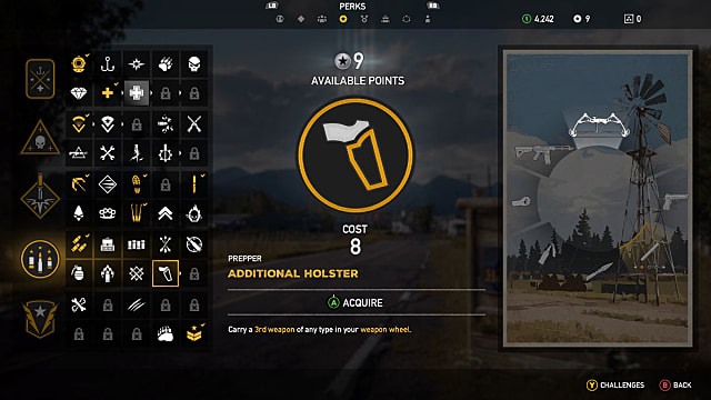 Additional holster perk displayed in FarCry5