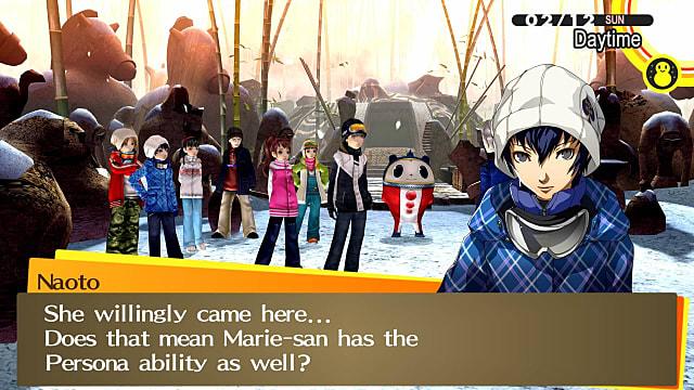Persona 4 Golden ski trip in the Golden Ending.
