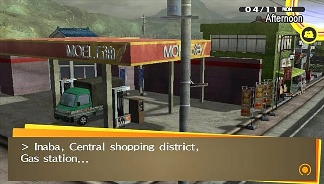 The Inaba, Central Shopping district gas station in Persona 4 Golden.