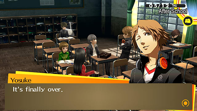 May is the first time you have exam questions in Persona 4 Golden.