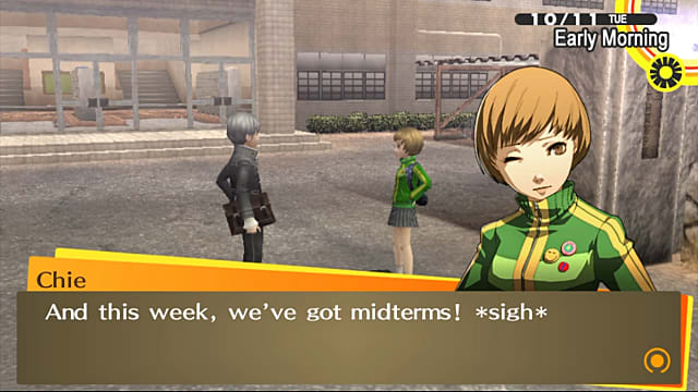 October brings class and exam questions in Persona 4 Golden.
