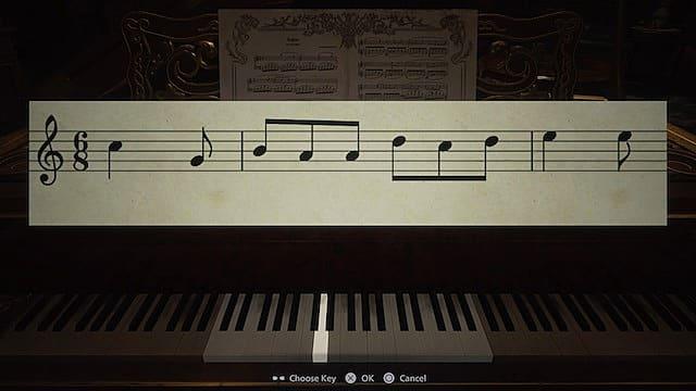Piano and sheet music.