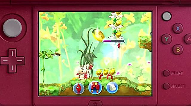 Pikmin 3DS gameplay screenshot on 3DS.