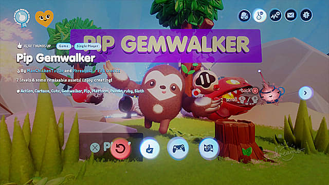 Pip Gemwalker from ManChickenTurtle is a great puzzle and platform creation.