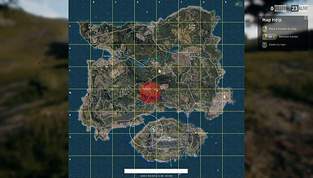 PLAYERUNKNOWN'S BATTLEGROUNDS, map