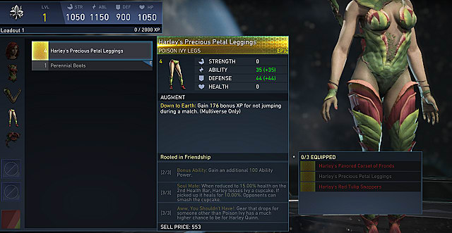 injustice 2 poison ivy gear