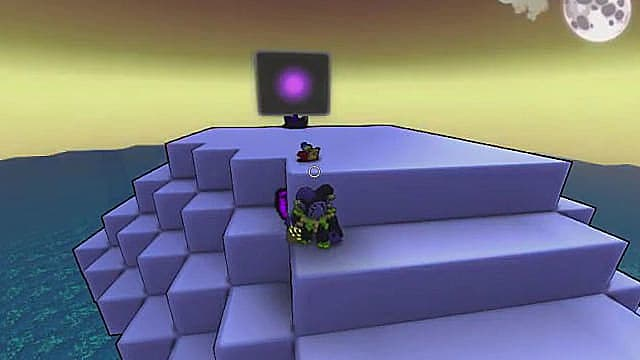 The Purple Essence can be found in the Old Hub area, from the Trove alpha version.