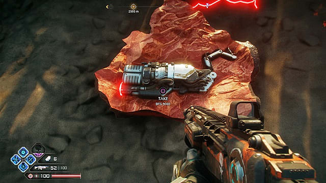 BFG 9000 inside a crashed meteor in Rage 2