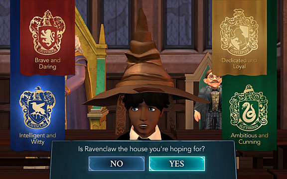 The Sorting Hat helps a wizard choose his house